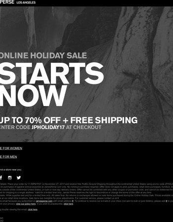 Starts Now: Up To 70% Off Holiday Sale + Free Shipping