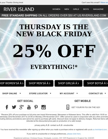 Get 25% off EVERYTHING