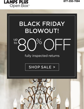 Black Friday Blowout Happening Now - Up to 80% Off