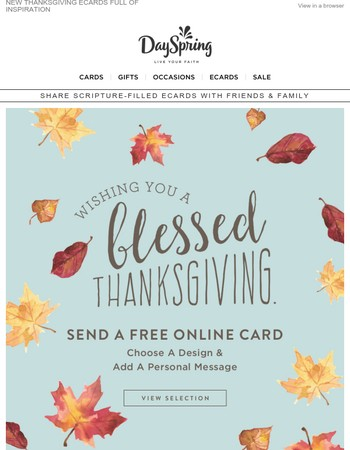Happy Thanksgiving from the DaySpring Family