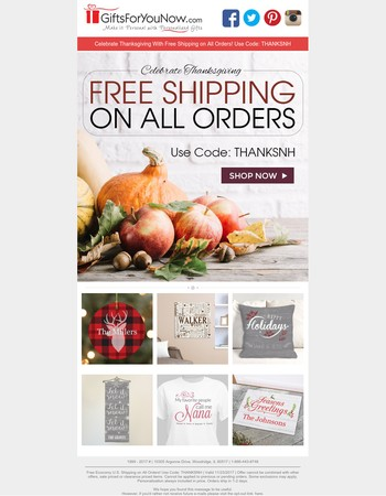 Free Shipping | We Are Thankful For You
