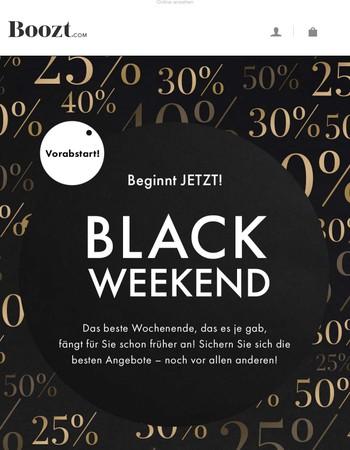 Vorabstart: Das Black Weekend beginnt JETZT!