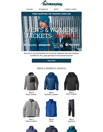 Top Brand Jackets On Sale - Plus Great Gift Ideas
