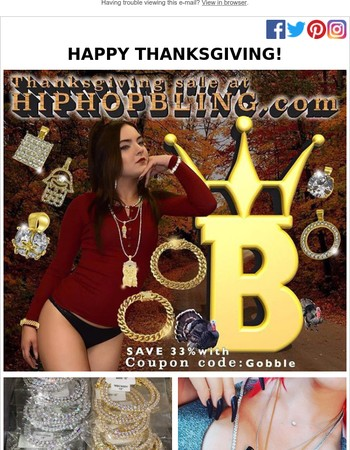 Happy Thanksgiving from HipHopBling.com