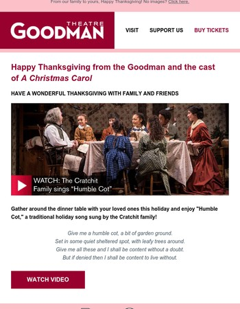 Happy Thanksgiving from Goodman Theatre!