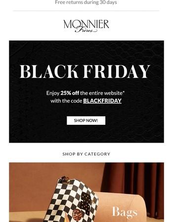★ Blackfriday Preview: 25% off exclusive designer brands!
