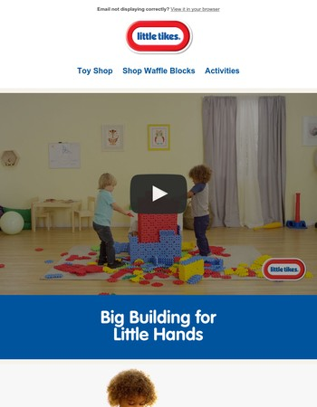 Build a world of fun with Waffle Blocks from Little Tikes!