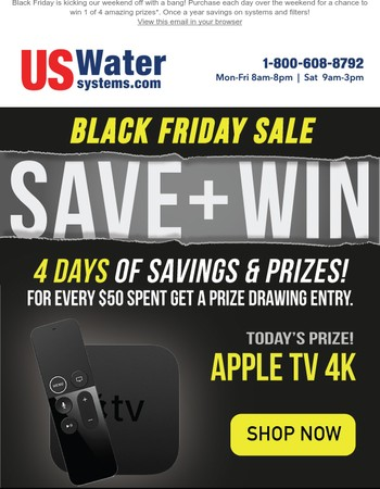 Black Friday Save up to 60% OFF and Chance to win Apple TV 4K
