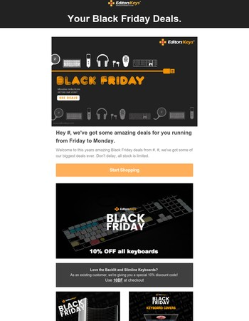 Your Black Friday Deals are here for Editors Keys