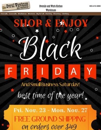 Black Friday Special Starts Now!