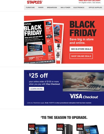 BLACK FRIDAY: You've earned these savings!