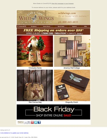 Black Friday Deals Are Here! ~ Plus Free Shipping