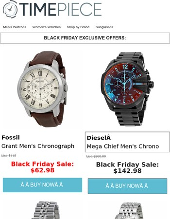 BLACK FRIDAY WATCH DEALS: Today Only!