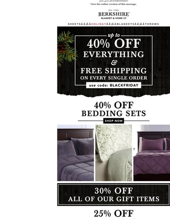 Up to 40% off Everything!