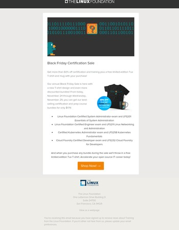 $179 Certification Bundles + Free T-shirt | Black Friday Sale