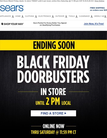 There's STILL TIME for Black Friday Doorbusters! (But not much)