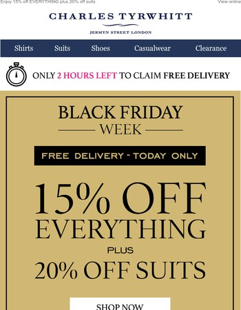 Free delivery ENDS MIDNIGHT!