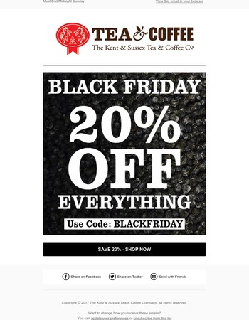 BLACK FRIDAY SALE   20% OFF EVERYTHING - Must End this Weekend