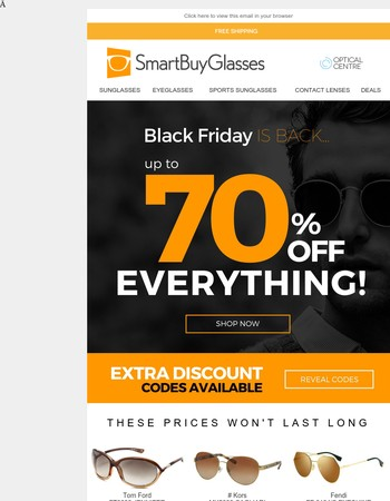 Black Friday is almost over - found your perfect eyewear deal yet?