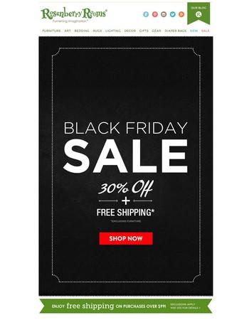 Black Friday FINAL DAYS 30% Off