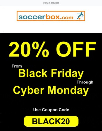 There's Still Time to Get 20% OFF at Soccer Box