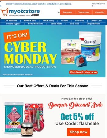 Save More On Exclusive Cyber Monday Sale