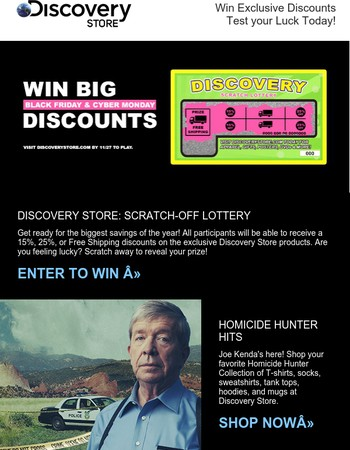 Discovery Store: Instant Scratch-off Lottery - Black Friday & Cyber Monday Deals
