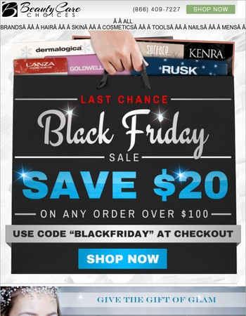 Last Chance to Save $20 for Black Friday Weekend!