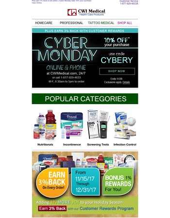 Email exclusive, Cyber Monday Sale - 10% off your purchase