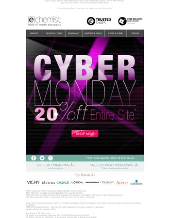 Cyber Monday Sale - one day only, dont't miss out! Shop Now!