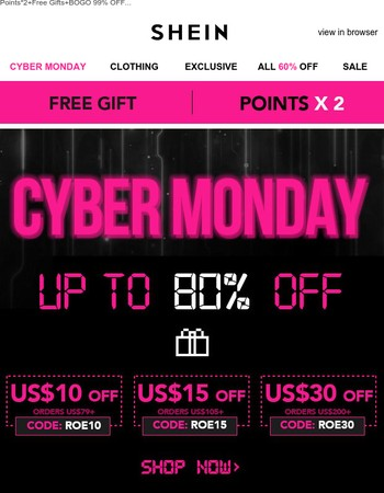 Cyber Monday Head Start is here!