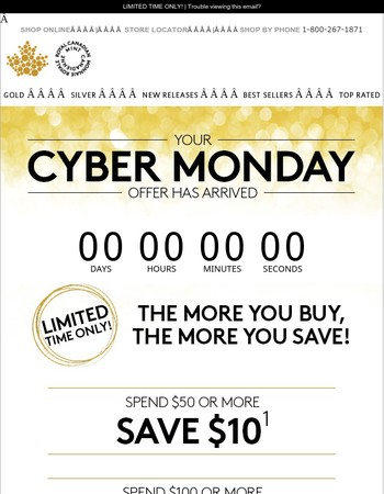 Cyber Monday has arrived!