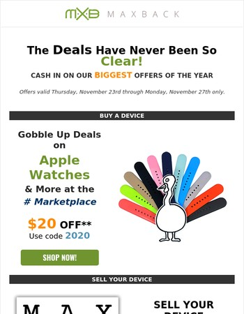 Cyber Monday: $20 off Apple Watches & More!