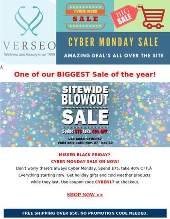2017 Cyber Monday Sale!