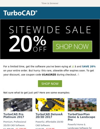 Limited Time Only: 20% Sitewide Discount