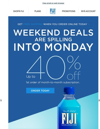 Cyber Monday savings up to 40%