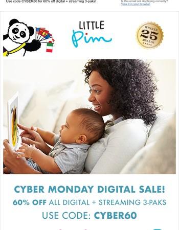 Shop our biggest sale ever! 60% off digital!