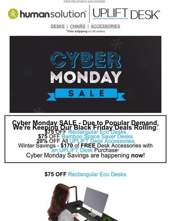 Cyber Monday Savings from UPLIFT Desk
