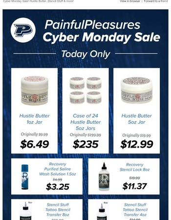 Sale on Hustle Butter, Stencil Stuff and more! Cyber Monday Sale!
