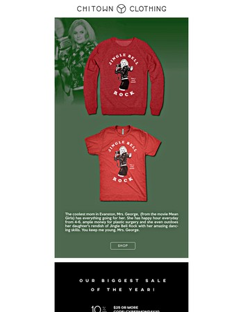 New Holiday 'Mean Girls' Design + Up To 30% OFF!