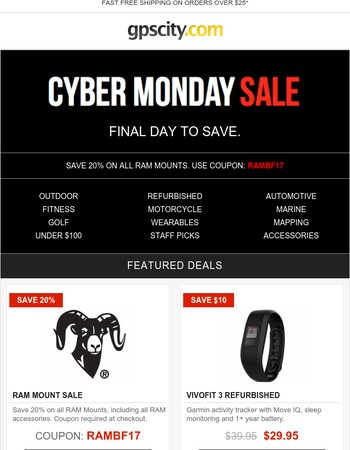 Cyber Monday - Final Day to Save