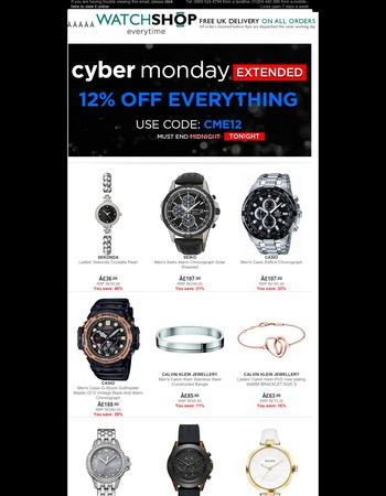 Cyber Monday Extended - Ends Tonight