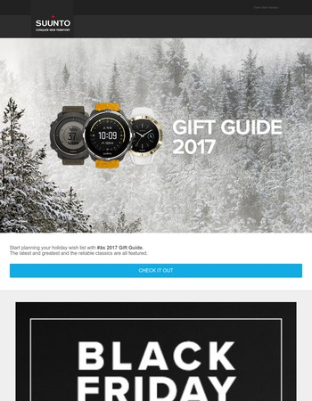 The Suunto Gift Guide 2017