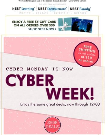 HOORAY! Up to 75% off Cyber WEEK Deals...
