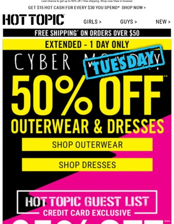 Our Cyber Monday on a Tuesday sale ends tonight!