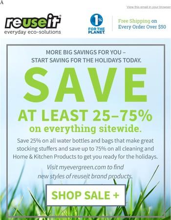 Cyber Week Savings: Save 25-75% site wide.