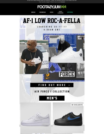 Air Force 1 Roc-A-Fella. Tomorrow 8AM.
