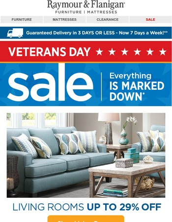 Going on now: our Veterans Day Sale