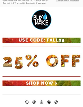 25% Off - Fall Weekend Sale! Don't miss out on the deals!