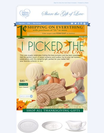 Gobble This Up - 1 Cent Shipping On Everything!